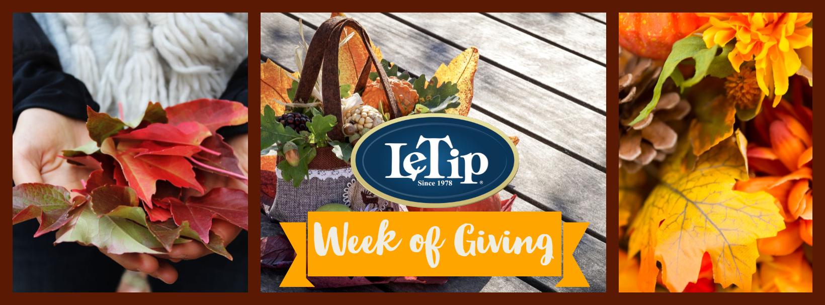 LeTip's Week of Giving
