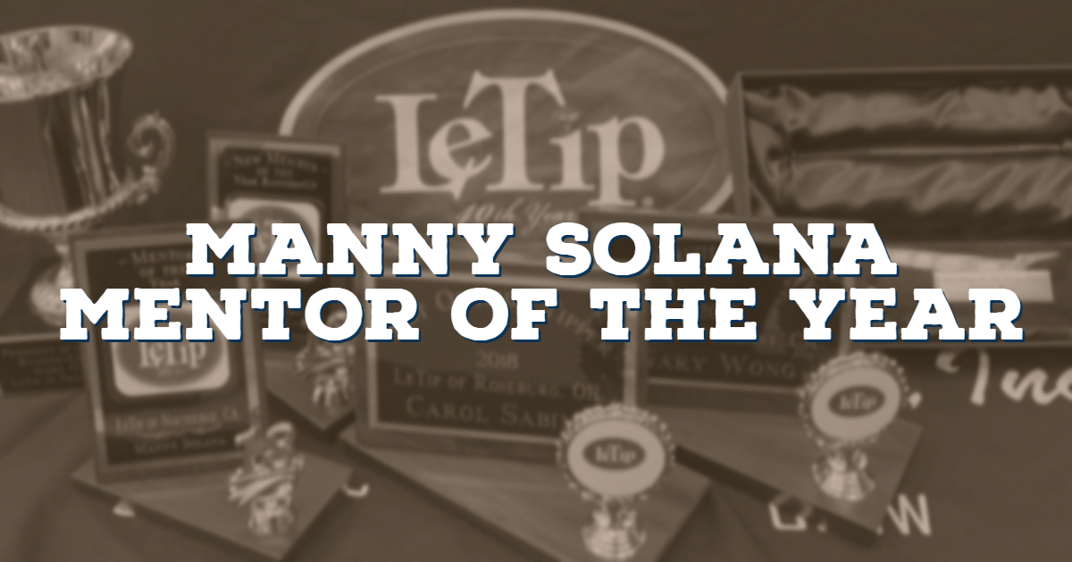 Manny Solana, Mentor of the Year