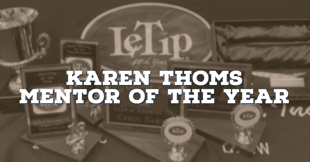 Karen Thoms, Mentor of the Year