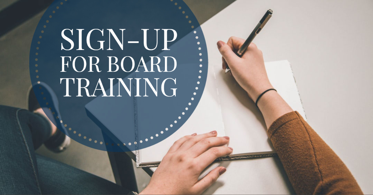 Sign-Up For Board Training